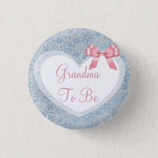 Grandma to be Pink & Blue Baby Shower Button