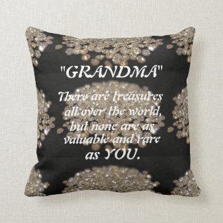 """GRANDMA YOU ARE A TREASURE"""" THROW PILLOW"""