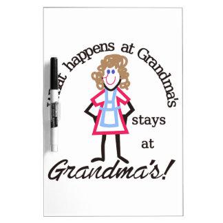Grandma's! Dry Erase Board