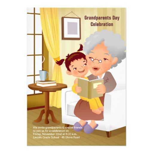 Grandma's Stories Grandparents Day Invitation