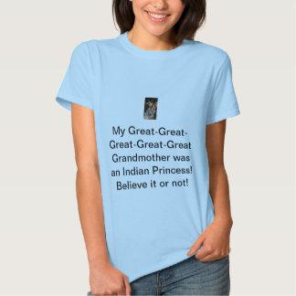 Grandmother was an Indian Princess Tshirts