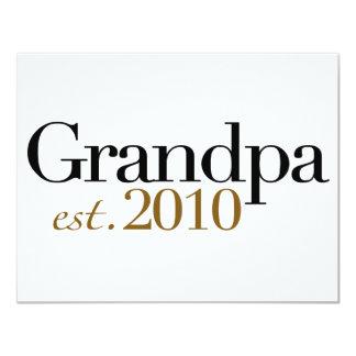 Grandpa Est 2010 11 Cm X 14 Cm Invitation Card