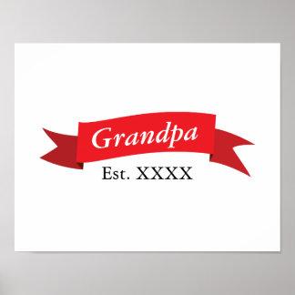 Grandpa Est. XXXX Poster