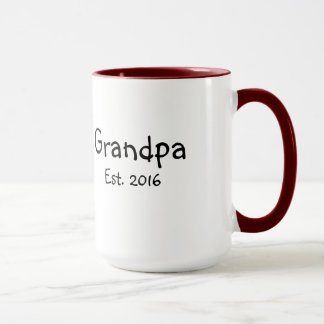 Grandpa - Established 2016 - 15 oz Coffee Mug
