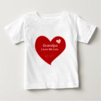 Grandpa Loves Me Lots Baby T-Shirt
