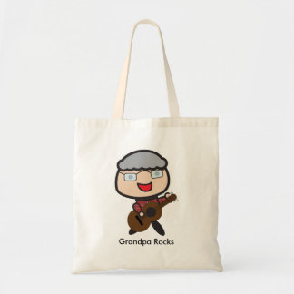 Grandpa Rocks Customizable Tote Bag