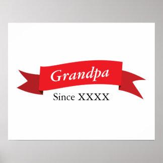 Grandpa Since XXXX Poster