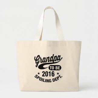 Grandpa To Be 2016 Jumbo Tote Bag