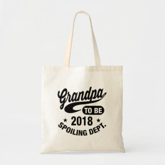 Grandpa To Be 2018 Budget Tote Bag