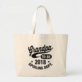 Grandpa To Be 2018 Jumbo Tote Bag