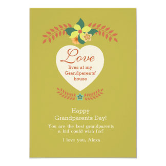 Grandparents Are Special Grandparents Day Card 13 Cm X 18 Cm Invitation Card