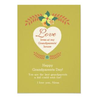 "Grandparents Are Special Grandparents Day Card 5"" X 7"" Invitation Card"