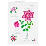 Grandparents Day Card - Pink Flowers