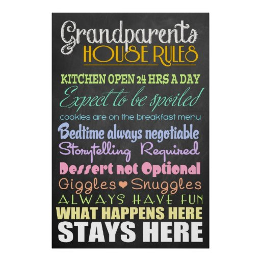 Grandparents House Rules Print