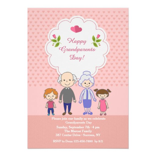 Grandparents' Love Is Endless Invite