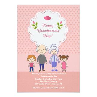 "Grandparents' Love Is Endless 5"" X 7"" Invitation Card"