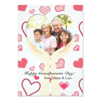 "Grandparents Special Love Photo Card 5"" X 7"" Invitation Card"