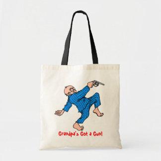 Grandpa's Got a Gun! Budget Tote Bag