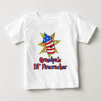 Grandpa's Little Firecracker Baby T-Shirt