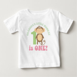 Grandpa's Little Monkey Baby T-Shirt