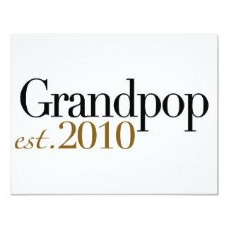 Grandpop Est 2010 4.25x5.5 Paper Invitation Card