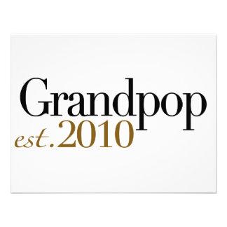 Grandpop Est 2010 Personalized Invitation