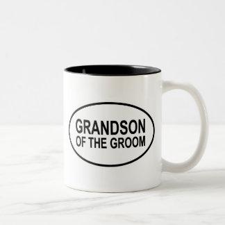 Grandson of the Groom Wedding Oval Two-Tone Coffee Mug
