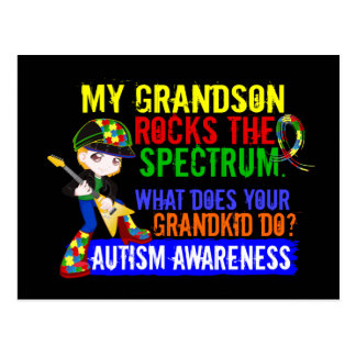 Grandson Rocks The Spectrum Autism Postcard