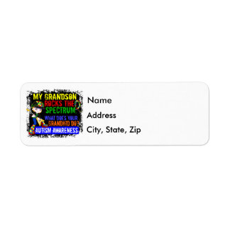 Grandson Rocks The Spectrum Autism Return Address Label