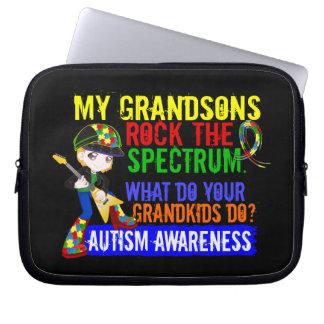 Grandsons Rock The Spectrum Autism Computer Sleeve