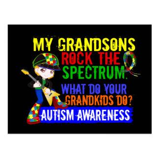 Grandsons Rock The Spectrum Autism Post Card
