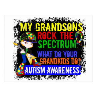 Grandsons Rock The Spectrum Autism Postcard