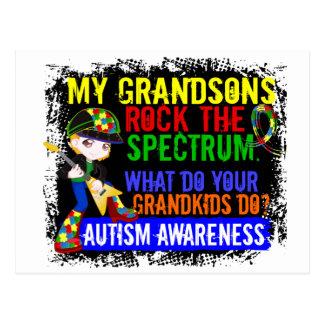 Grandsons Rock The Spectrum Autism Postcard