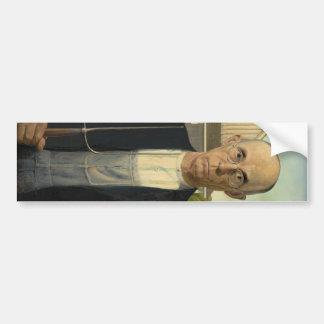 Grant Wood - American Gothic Bumper Sticker