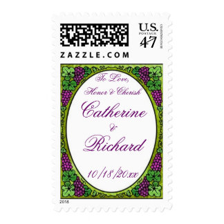 Grape Delight Wedding Stamps