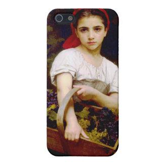 Grape Harvester, William Bouguereau iPhone 5 Covers