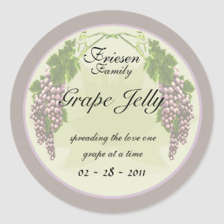 Grape Jelly labels Round Sticker