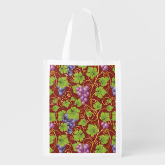 Grape Pattern Reusable Grocery Bag