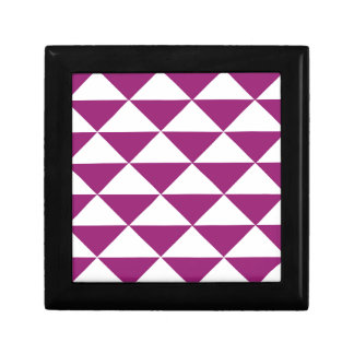 Grape Purple and White Triangles Gift Box