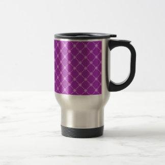 Grape, Purple Criss-Cross Pattern Coffee Mug
