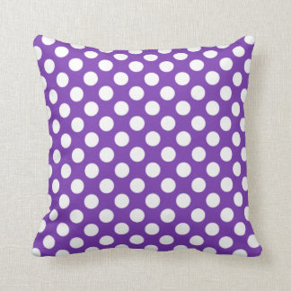 Grape Purple Polka Dots Throw Cushions