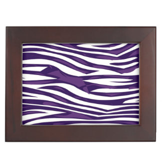 Grape Zebra Abstract Keepsake Box