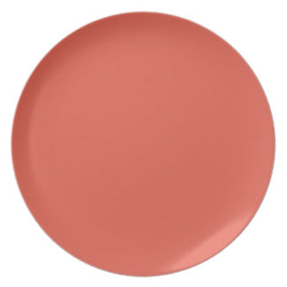 Grapefruit-Colored Plate