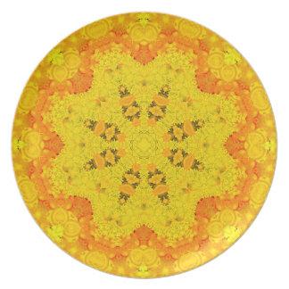 Grapefruit Grenadine Mandala Plate