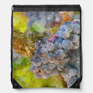 Grapes on Vine Drawstring Bag