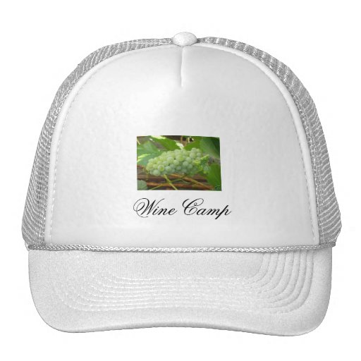 grapes, Wine Camp Hats