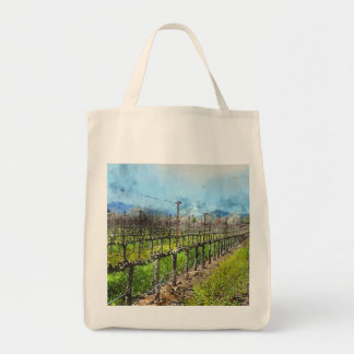 Grapevines in a Row in Napa Valley California Tote Bag
