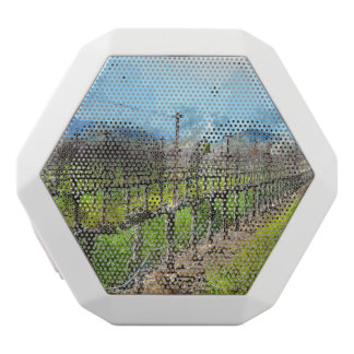 Grapevines in a Row in Napa Valley California White Bluetooth Speaker