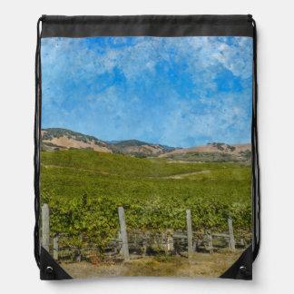 Grapevines in Napa Valley California Drawstring Bag