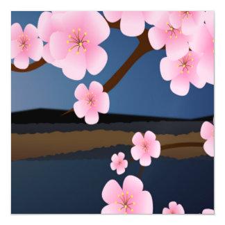 Graphic Cherry Blossom Magnetic Invitations